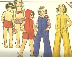 1970s Toddlers Jumpsuit CoverUp and Swimsuit by MissBettysAttic, $6.00