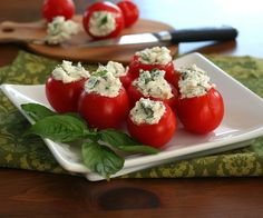 Goat Cheese and Herb Stuffed Cherry Tomato Recip | All Day I Dream About Food
