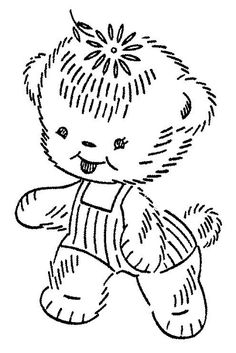 Teddy bear in overall
