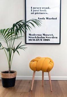 mustard knot stool