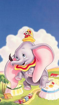 "Wallpaper for ""Dumbo"" Disney Pixar, Art Disney, Disney Animation, Disney Cartoons, Disney Love, Disney Magic, Dumbo Disney, Arte Do Mickey Mouse, Dumbo Cartoon"