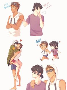 "nihui-223art: ""I'm posting this because I don't have anything else…. I forgot how to draw lol "" KLANCE"