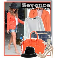 Beyoncé shopping in LA Fedora Hat, Alice Olivia, Get The Look, Polyvore Fashion, Givenchy, Steve Madden, Celebrity Style, Street Style, Style Inspiration