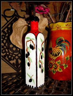 Great Valentines Days gift for the Chef in your life. Olive Oil Bottle / Decantor by BajaGypsy on Etsy
