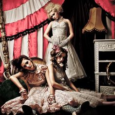 Dirty fabulous Vintage Styling - I kind of love these for bridesmaids dresses.....