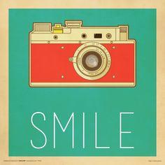 Amazon.com: Camera Smile Retro Vintage Hipster Decorative Inspirational Art Poster Print, Unframed 12x12: Posters & Prints