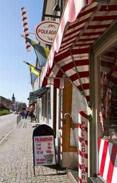 Candy canes in Gränna, Småland, Sweden