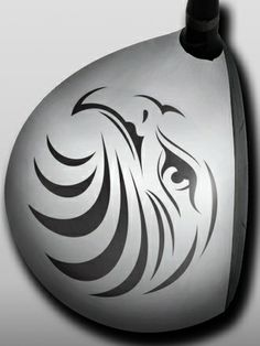 Personalized Golf Driver Skin - Designer - Tribal Eagle by Big Wigz Skins.  Buy it @ ReadyGolf.com