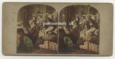 chess 1858 Stereoscopic card Photograph James Elliott hand tinted Evening Home James Elliott, Chess, Photographs, Victorian, India, Painting, Ebay, Art, Gingham