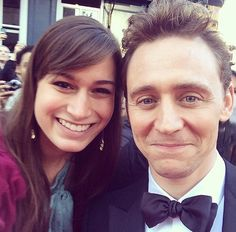 Tom with a lucky fan