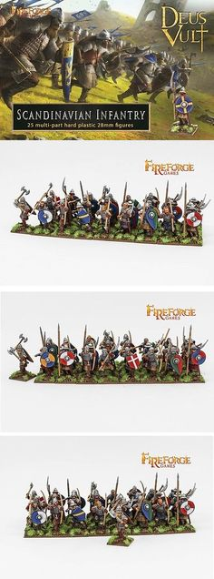 28mm 158730: Fireforge Games Scandinavian Infantry Ff012 - Plastic Box Set - Deus Vult -> BUY IT NOW ONLY: $35.99 on eBay!