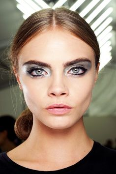 Bold Brows and metallic shadows are in for spring 2013