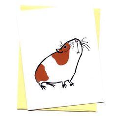Guinea Pig  blank card by fishcakesoboy