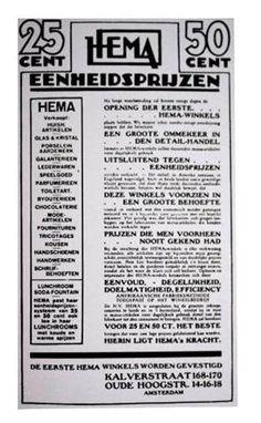 1926 Advertentie van HEMA