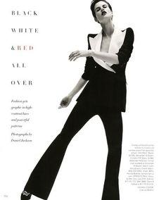 Harper's Bazaar - Black, White & Red All Over