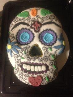Day of the Dead cake. Dia de los muertos custom cake