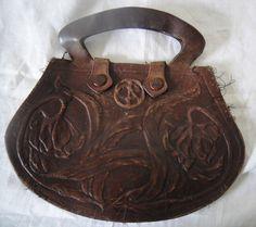 "Edwardian Era Art Nouveau / Deco Tooled Leather Ladies Purse ~ 10""Wide   eBay"