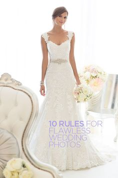 Your wedding day is coming! Here we got you10 rules for flawless wedding photos. Click to read the article. || Wedding Photo Tips, Bridal Posing Ideas