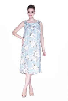 Melani Dress in Waterlily Sky Blue