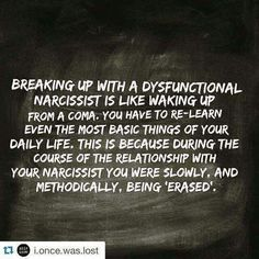 Narcissistic sociopath relationship abuse.