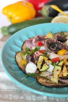 Insalata di mare e verdure