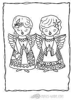 Christmas Angel Coloring Pages 6 Angel With Christmas Tree German Tree Coloring Page
