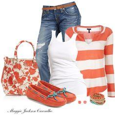 Stripes & Floral by maggie-jackson-carvalho on Polyvore