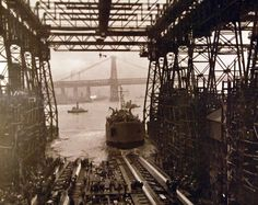 80-G-32266:   Launching of USS LST 314 at New York Navy Yard, New York, December 30, 1942.   Official U.S. Navy Photograph, now in the collections of the National Archives.
