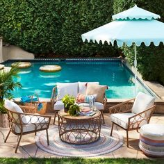 88 inspiring small pool remodel for your backyard 14 - Homeadzki Website Patio Dining, Patio Chairs, Patio Bar, Dining Table, Eames Chairs, Patio Table, Dining Area, Dining Chairs, Outdoor Seating