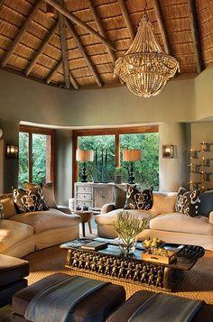 Indoor Bar Lounge at Lelapa Lodge