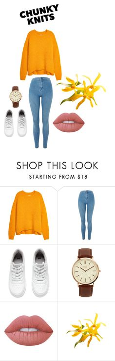 """Amona - Chunky knits contest"" by kentigerna on Polyvore featuring Topshop, H&M, BKE and Lime Crime"