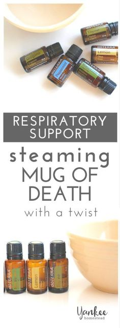When you need serious respiratory support, it's time for the Steaming Mug of Death! My method ends with a bit of a twist for added respiratory power.   Yankee Homestead