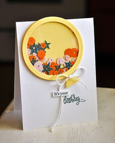 Simply Stamped: Introducing Sparkle & Shine, NEW! Shaker Shapes dies balloon shaker card