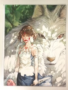 Princess Mononoke, Studio Ghibli, Fan Art, Manga, Illustration, Anime, Studio, Manga Anime, Manga Comics