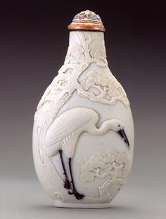Snuff bottle - The Crane Collection