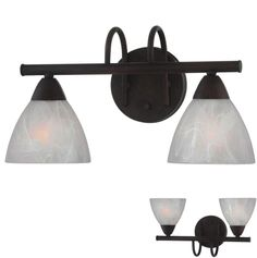 Oil Rubbed Bronze 2 Light Bathroom Vanity Wall Lighting Bath Fixture  #Contemporary