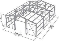 Details about Steel Metal Garage Building Kit 1200 sq workshop barn shed prefab storage Metal Garage Buildings, Prefab Buildings, Steel Structure Buildings, Metal Garages, Shop Buildings, Roof Structure, Building Structure, Steel Sheds, Steel Barns