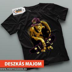 DESZKÁS MAJOM - Egyedi mintás póló! WEBSHOP: http://printfashion.hu/mintak/reszletek/deszkas-majom1/ferfi-polo