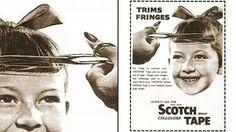 Scotch tape vintage ad