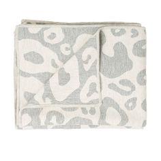 Hamilton Large Spot Throw Linen and Grey  £179.95