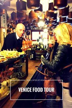 Tasting small bites of Venice on a food tour with @walksofitaly -- Step inside the bacari of Venice and sample cicchetti and wine