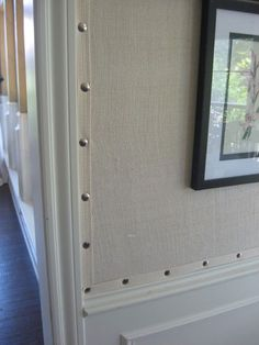 Upholstered Burlap Walls. Y haven't I thought of this?!