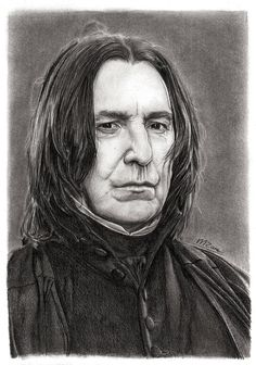 """Scan of my finished tribute drawing of Alan Rickman as Severus Snape. """"After all this time? Harry Potter Sketch, Arte Do Harry Potter, Harry Potter Artwork, Harry Potter Drawings, Harry Potter Wallpaper, Harry Potter World, Harry Potter Portraits, Alan Rickman Severus Snape, Desenhos Harry Potter"""
