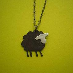 Sheldon the Little Black Sheep Handmade by Metal Sugar