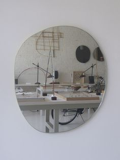 Large Irregular Round mirror