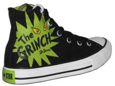 Converse The Grinch Shoes Converse All Star, Converse Shoes, Converse Chuck Taylor, Grinch Shoes, Grinch Images, Baby Feet, Shoe Boots, High Top Sneakers, Kicks