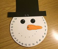 Tæl ned til jul med denne søde snemand. Family Crafts, Christmas Crafts For Kids, Christmas Printables, Christmas Angels, Christmas Art, Diy Crafts For Kids, Creative Party Ideas, Creative Kids, Kreative Jobs