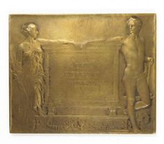 This is a handsome estate found bronze plaque medal memorializing the life of…