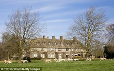 Blaze: Swinbrook House Estate in  Oxfordshire before a blaze gutted the house built by the Mitfords