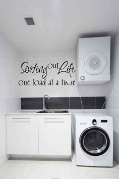 Sorting Out Life One Load at a Time Vinyl Wall Words Decal Sticker